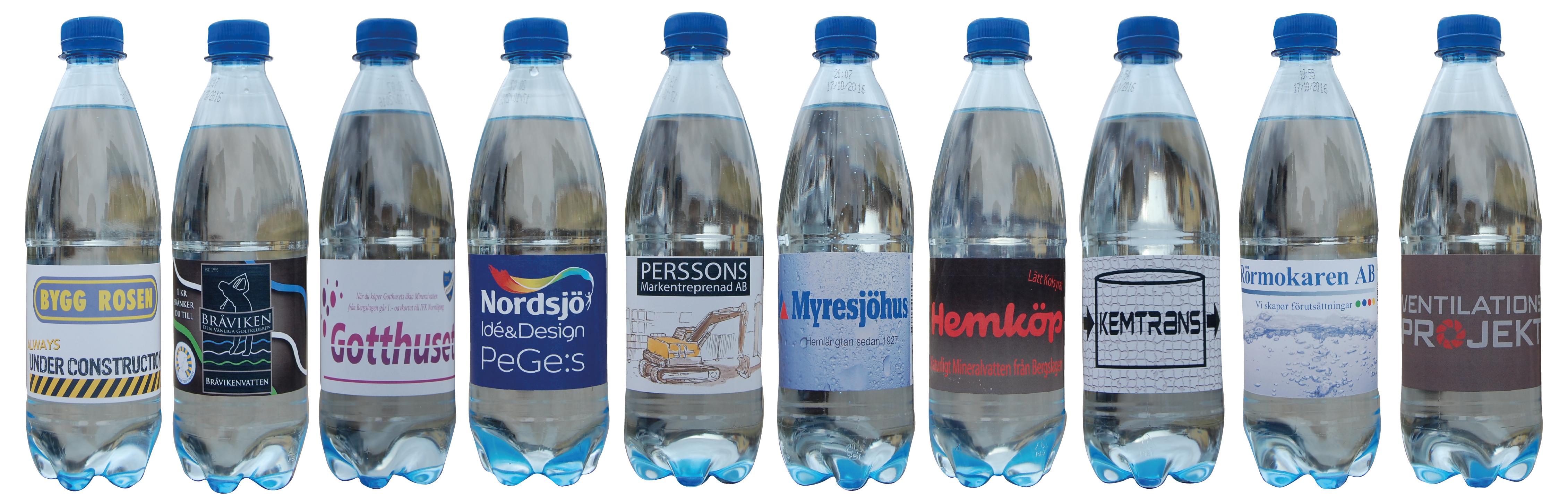 Samlingsbild flaskor